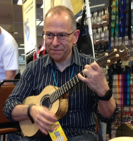 Peter Luongo test drives at the Reno Ukulele Festival